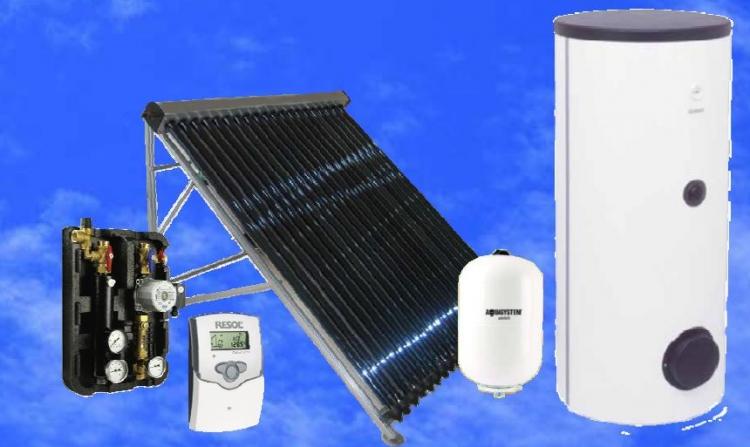 Kék Solar napkollektoros csomagok