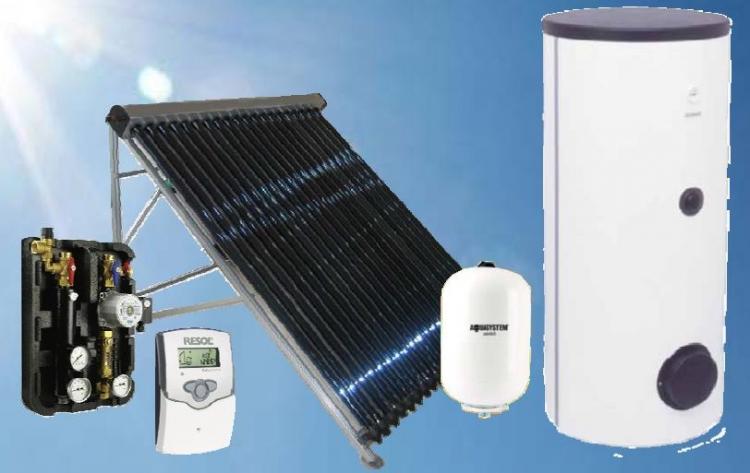 Kék Solar napkollektor csomag 2-3 fő részére